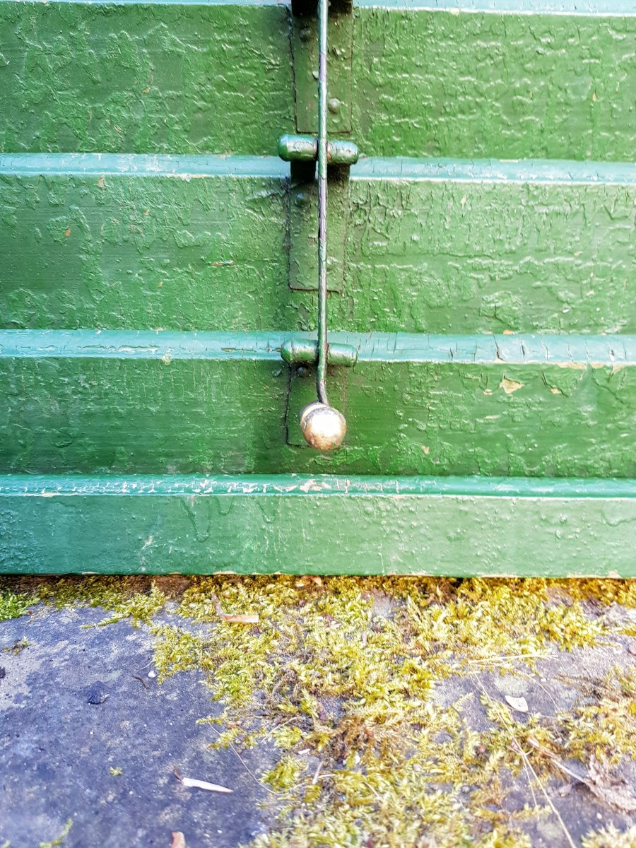 Green Wooden Window Shutter