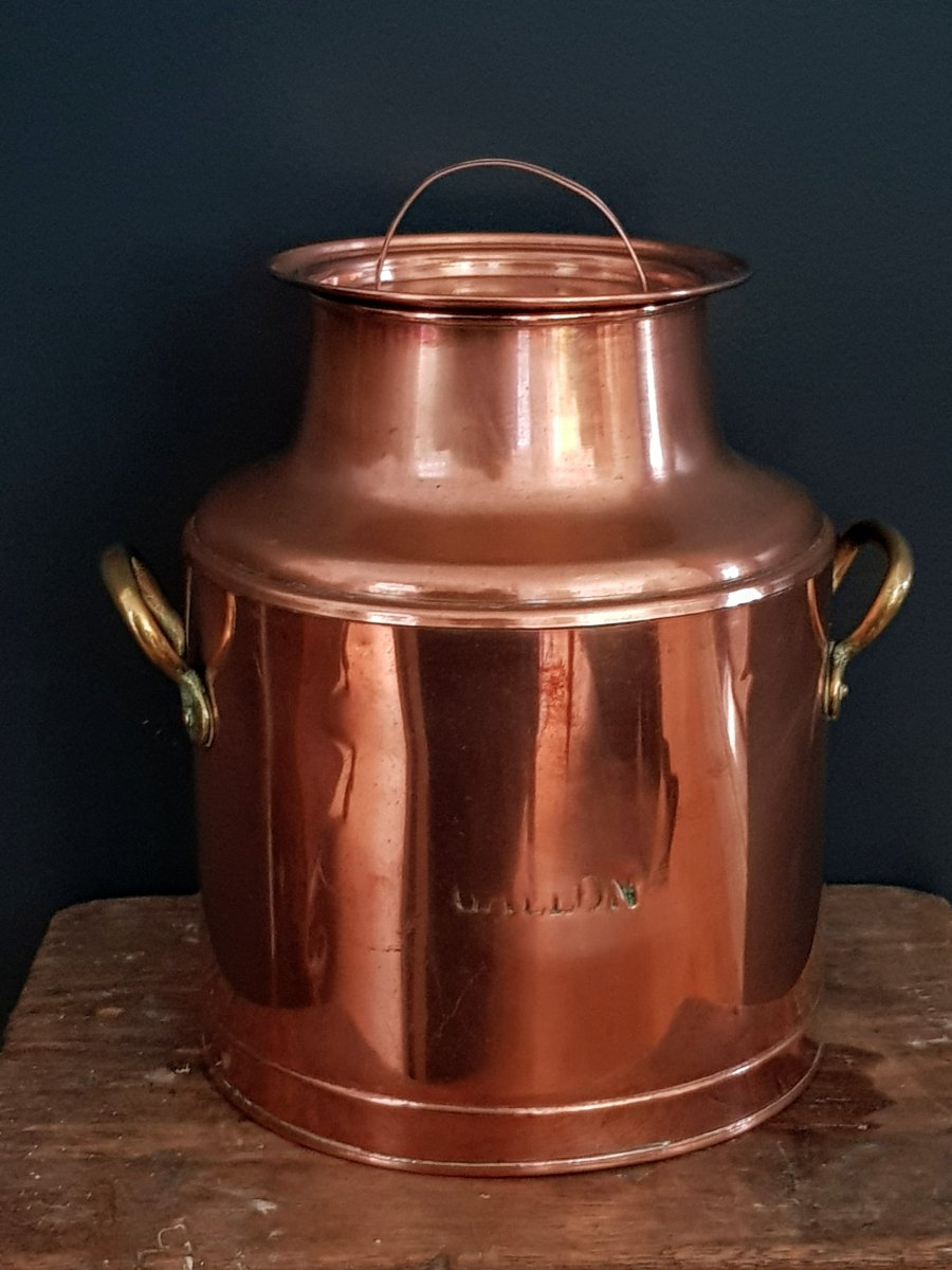 Small Copper Milk Churn
