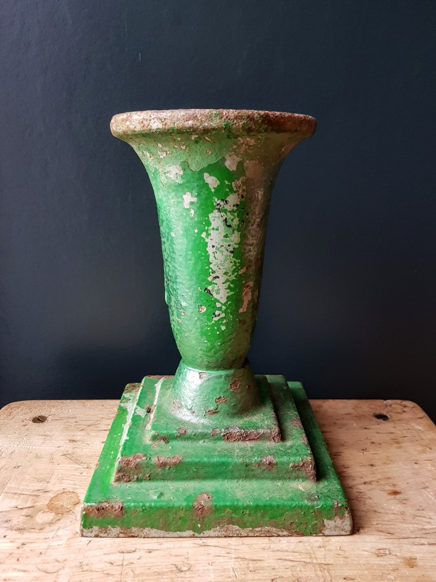 Cast Iron Green Urn