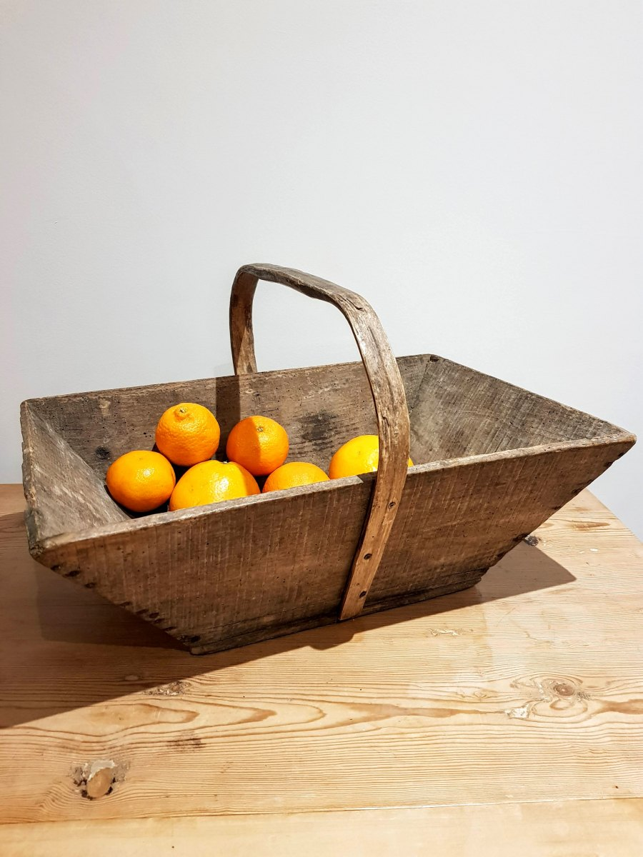 French Vintage Wooden Trug