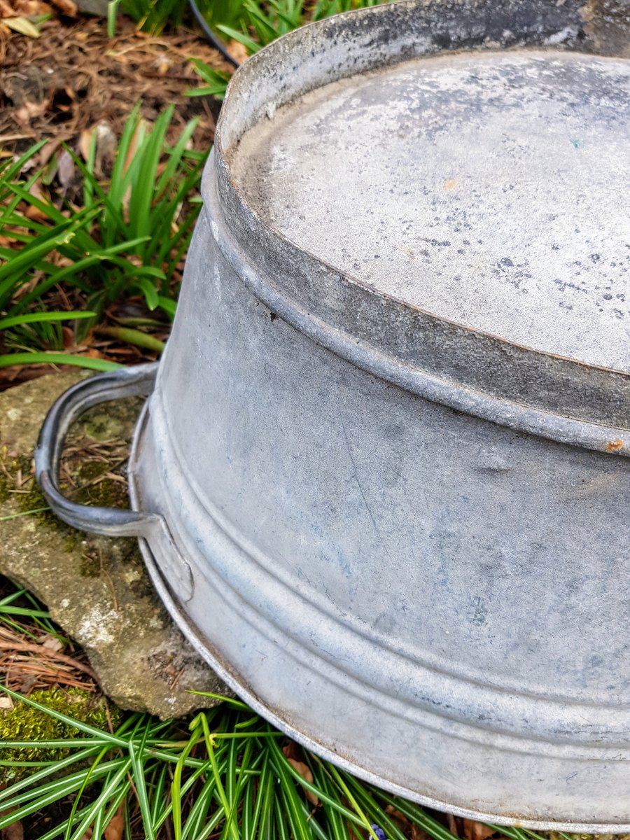 Old Galvanized Wash Tub