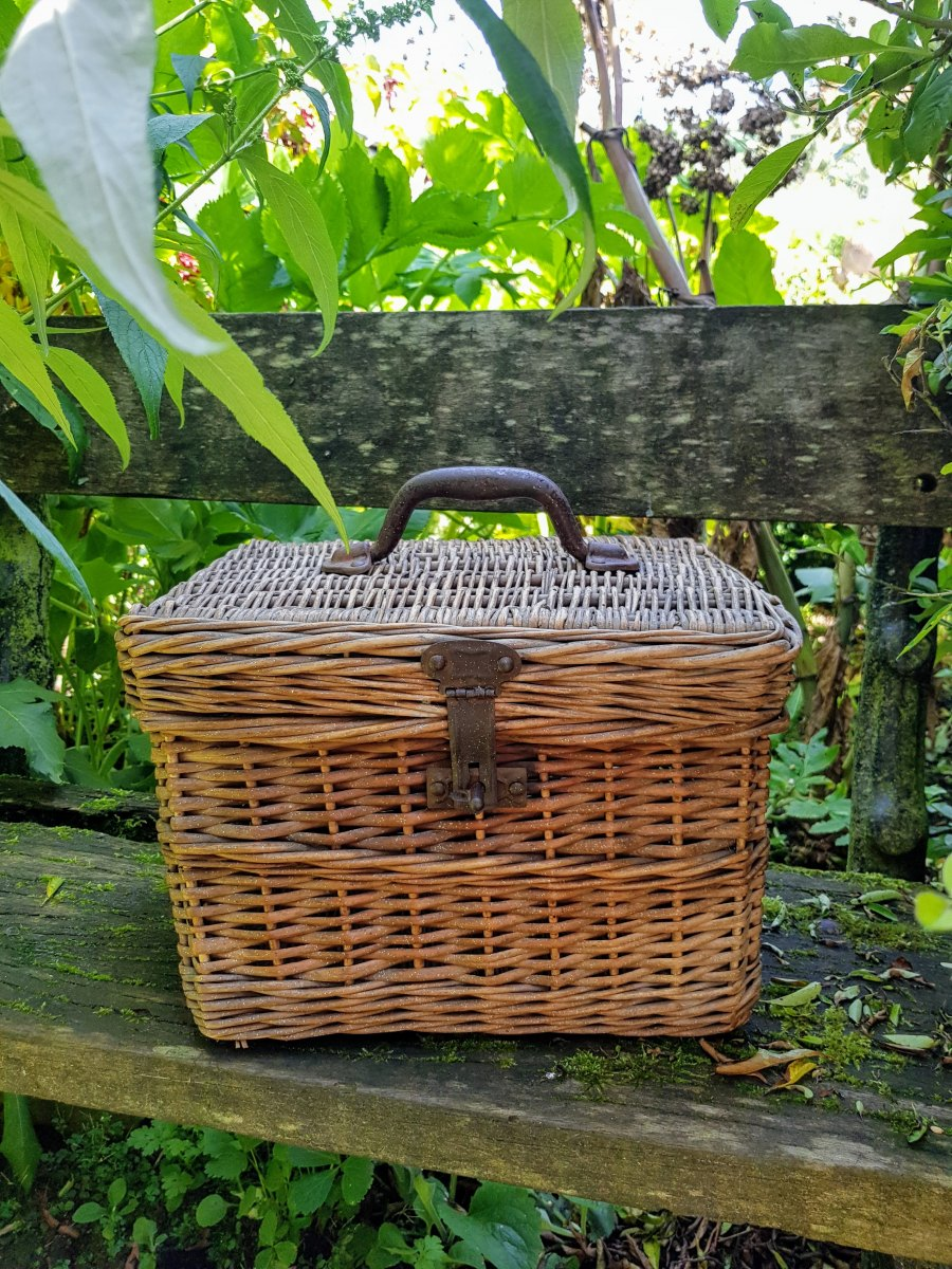 Lockable Wicker Trunk