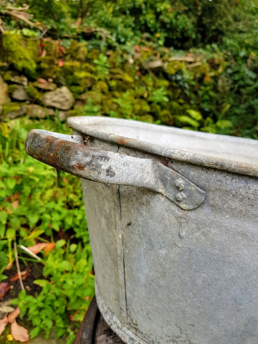 Old Galvanised Wash Tub