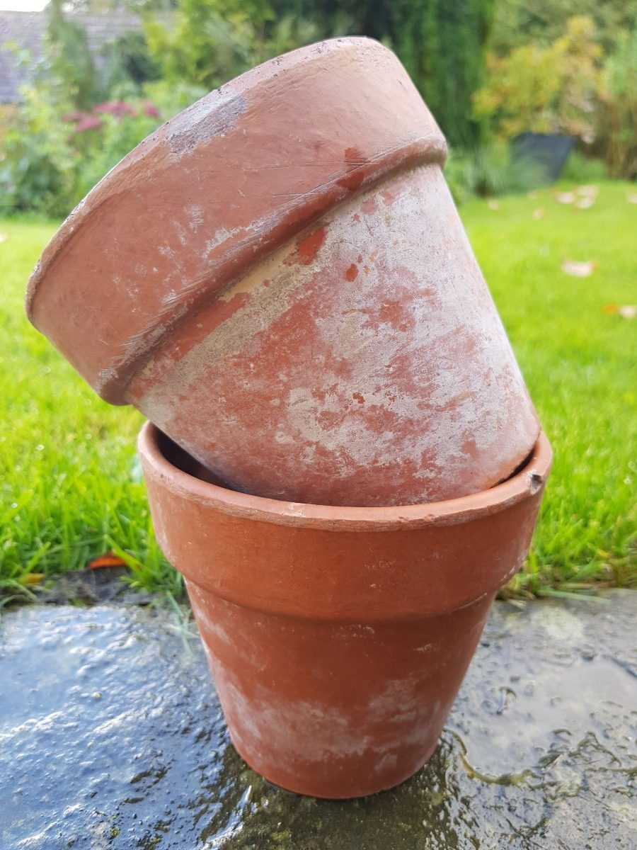 Two Sankey Bulwell Terracotta Pots