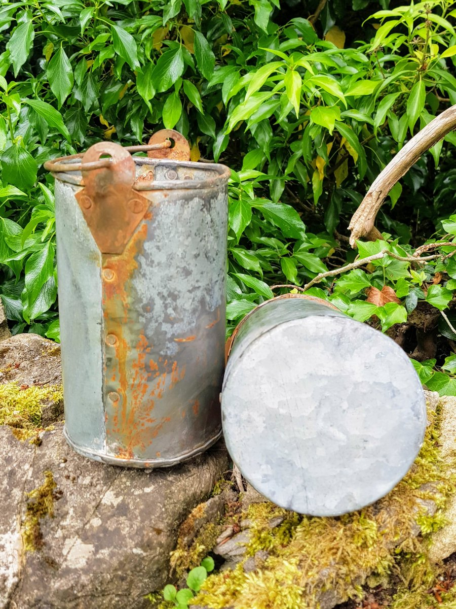 Metal Cylinder Container With Handle